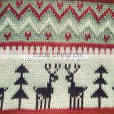 100 acrylic knitted fabric Christmas gift cloth