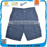 Navy Baggy Ripstop Side Pockets Cargo Shorts Mens