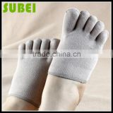 Lovers five fingers sweat-absorbent pure cotton socks