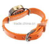 "Women Retro Strap Leatherette Wrist Adjustable Watch Orange Easy Read 24cm(9 4/8"")long,1pc,Customize"