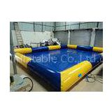 Blue huge Inflatable Water Toys , Water Pool Aqua Park Facilities