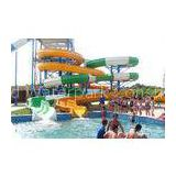 Waterpark Equipment, Fiberglass Open / Close Spiral Slide, Custom Water Slides 11m Height