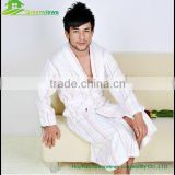 Cotton men bathrobe color strip bath robe for adults men cloth robes bathrobe