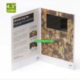 4.3 inch lcd brochure,digital wedding invitation card,video greeting card