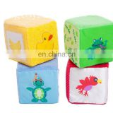factory custom plush magic cube box toy