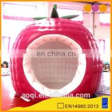 2015 interesting design strawberry shape inflatable bubble tent for trade show for sale