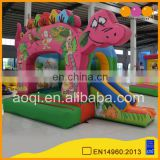 AOQI hot sale inflatable indoor playground dinosaur combo for kids with free EN14960 certificate