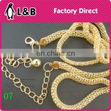 2016 Custom made lady decoration metal waist chain metal fashion plate belt