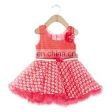 Red Beautiful Floral Applique Dress
