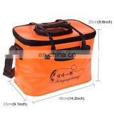 Wholesale Big Size 36*23*25cm Fishing Tackle Boxes,Drop Shipping ABS PVC Fishing Bucket Water Tank with Hand Should Strap