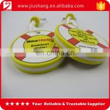Factory direct supply round EVA key chain rings with two sides printing logo key holder