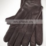 Black Leather Polo Gloves