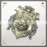 metal car logo sticker with custom design