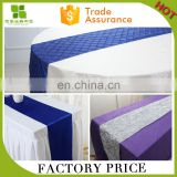factory hot selling 100%ployester satin table runner for wedding