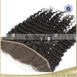 Virgin Brazilian Hair lace frontal in deep wave 120%density 4X4inch,5X5inch lace frontal