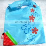 Strawberry fruits design folding shopping bags/promotion shapes of bag for shopping