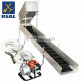 High capacity highbanker portable gold sluice with gold trommel wash plant