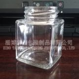 square glass bottle
