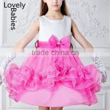 Girls photos of princess gowns 2016 sleeveless party wear frill dress                                                                                                         Supplier's Choice