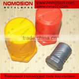 Round telescoping plastic box for indexable milling cutter