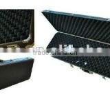 hanadle equipment military carrying gun case for rifle,ABS aluminum long gun case wholesale