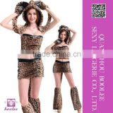 2015 Wholesale low price popular style Sexy Leopard Cosplay Costume Animal costumes for women Halloween costumes adult