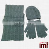 Fashion Beautiful Cashmere Winter Hat And Scarf Set