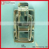 Silver tone metal spring loaded cases boxes chest toggle catch latch