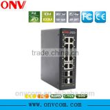 8 ports 10/100M managed Industrial POE Ethernet switch
