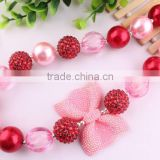 2015 Wholesale fashion DIY children Dalentine Day beaded necklace chunky pearl beads kid necklace kids chunky necklace