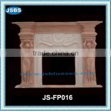 Red marble statue friepalce mantel