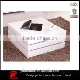 wooden modern lift top Square White High Gloss coffee table                                                                                                         Supplier's Choice