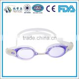 2015 best sell fashionable competitive swimming goggles , baby purple swimming goggles , Silicone swimming pool goggles