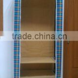 Hot sell Foldable DIY solid wood and non woven fabric portable wardrobe/storage wardrobe