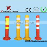 Flexible spring type plastic warning sign bollards / PU delineator post                                                                         Quality Choice