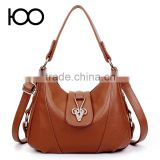 latest college girls shoulder bags genuine cow hide leather shoulder bag with custom logo