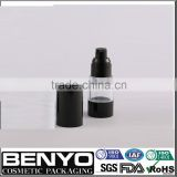 Black 15ml 30ml 50ml skin care airless plastic bottle for cosmetic                                                                                                         Supplier's Choice