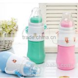 2015 Best Selling Baby Feeding bottle joyshaker/Plastic Baby Vacuum Flask /Baby plastic body thermos bottlle with glass liners