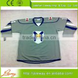 Grey retro jersey goalie cut ice hockey jerseys for man