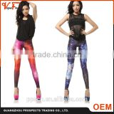 Wholesale Custom China clothes factory supply fashion fitness 3d digital printed sexy women leggings for ladies