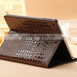 fashion High Quality Slim Crocodile Leather Case for iPad Mini 1/2, Smart Cover for Apple iPad Mini 1/2 with Retina Display