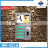 RFID card operated Wall mounted coin operated cell phone charging machines APC-04B