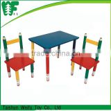 Children furniture Pencil wooden study table and chairs set                                                                                         Most Popular