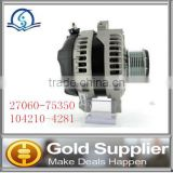 Brand new Auto alternator parts for TOYOTA 27060-75350 104210-4281 12V 130A Alternator with high quality