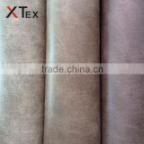 100 polyester 430gsm heavy faux suede leather like fabric with brushed knitted backing for sofa,cushion,mat,shoes