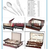 147 pcs SS cutlery set with wooden case