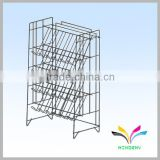 Functional sturdy space-saving black 5 tiers foldable flooring wirehair accessories display stand