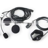 Tactical helmet dedicated communication system military PTT push to talk headset throat microphone CL42-0002