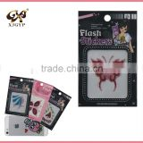 glitter temporary tattoo sticker for kids/customized body glitter tattoo stickers/glitter 3d sticker