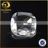 Cushion cut absolute white crystal stone,rock crystal stone square shape glass stone loose crystal stone                                                                                                         Supplier's Choice